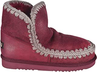 MOU Luxury Fashion Womens ESKIMO18RED Red Ankle Boots | Fall Winter 19
