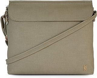 Baggit Autumn/Winter 2020 Faux Leather Women's Satchel Handbag (Green) (Tompy)
