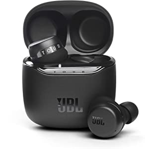 JBL Tour PRO+ TWS True Wireless Bluetooth Earbuds, Noise Cancelling, up to 32H Battery, 3 mics, Wireless Charging, Google Assistant and Alexa Built-in (Black)