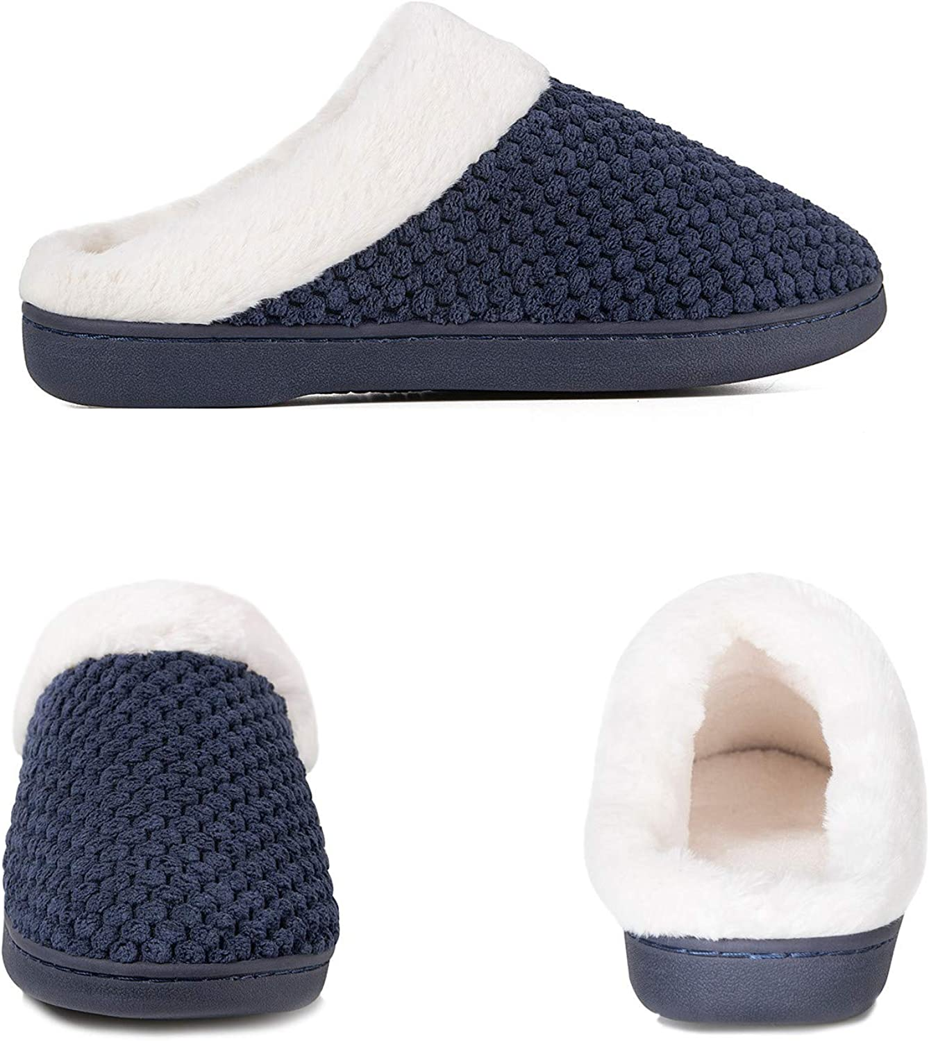 Ladies House Slippers Memory Foam Slippers for Women Comfortable Warm Cosy Non Slip Indoor Outdoor Home Slippers