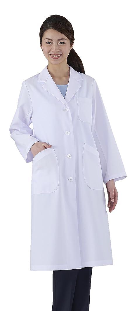 恐ろしい君主数学アプロンアパレルレディス診察衣シングル ホワイト LLサイズ260-70AP