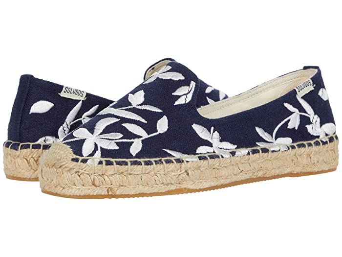 Soludos  Shiloh Embroidered Espadrille (Midnight Blue) Womens Shoes