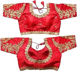 Red Blouse Saree Full Stitch Blouse Sari Readymade Blouse Saree Designer Indian Style Padded Blouse for Saree Crop Top Choli 429