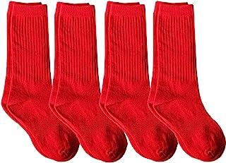4 بسته جوراب آجدار نیمه گوساله با پشتیبانی قوس برای لباس فرم مدرسه ، ورزش ، AFO