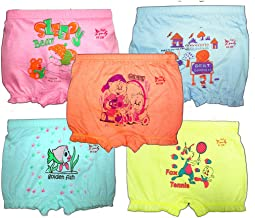 Hap Girl's Cotton Printed Bloomer (Multicolour) - Pack of 5