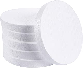 Craft Foam Circle - 6-Pack Polystyrene Foam Disc Foam Round for Sculpture, Modeling, DIY Arts and Crafts - White, 8 x 8 x 1 Inches