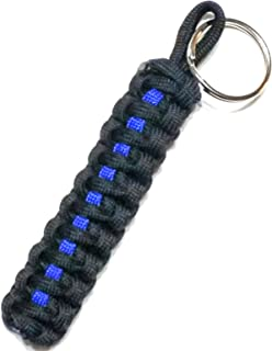 LEO 550 Paracord Thin Blue Line Key Chain