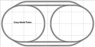 Train Layout #004 Bachmann HO EZ Track Nickel Silver - 4' X 8' - Train Set