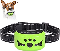 AHJDL 2019 Newest Upgrade Dog Bark Collar-7Adjustable Sensitivity and Intensity Levels-Dual Anti-Barking Modes-Rechargeable-Rainproof-No Barking Control Dog Shock Collar for Small,Medium,Large Dogs