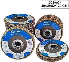 "10 4-1//2/' inch FLAP DISCS 4-1//2/"" x 7//8/"" A//O 60 GRIT Sanding Grinding Wheel"
