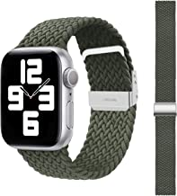 SEMKONT Compatible with Apple Watch Band 38mm 40mm 42mm 44mm, Stretchy Elastic Nylon Adjustable Replacement Watch Strap, C...