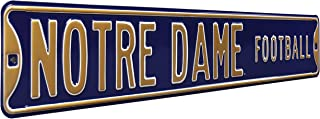 Authentic Street Signs 70203 Notre Dame Football, Heavy Duty, Metal Street Sign Wall Decor, 36