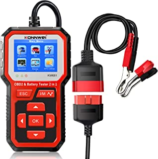Romacci KW681 Car & Motrocycle Battery Tester & OBDII Diagnostic Scanner Tool 2 em 1
