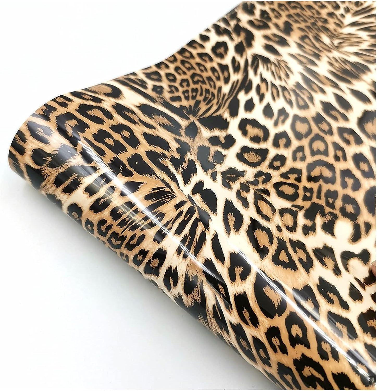 MINGMIN-DZ htv Daily bargain sale Heat Transfer Popularity Vinyl Leopard 50cm T x100cm Pattern