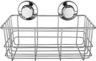 強力吸着 吸盤ラック シャンプーラック シャワーキャディー 錆びにくいステンレス キッチン 収納ラック お水切り バスラック キッチン用品 浴室用品 洗面所 お風呂 壁に穴を開けない