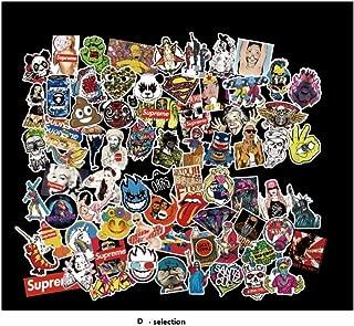 (Not Random) New 100 Piece Skateboard Stickers Helmet Vintage Vinyl Laptop Luggage Decals Dope Sticker Mix Lot (A - Section 100 Pieces)