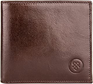 Maxwell Scott Men's Premium Leather Billfold Wallet - Vittore Brown