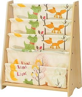 comprar comparacion SONGMICS Estantería Infantil, Estantería para niños, con 4 Estantes para Libros y Juguetes, Ideal para Habitaciones Infant...