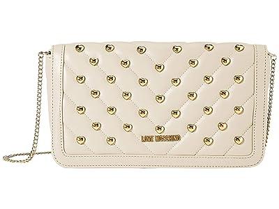 LOVE Moschino Studded Crossbody (Powder) Handbags