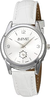 August Seiner Women's Classic Swiss Dress Watch - ToneCoin Edge Case with Dial and Seconds Subdial on Soft Genuine Leather Alligator Strap