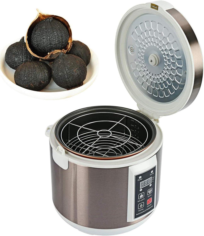 INTSUPERMAI 110V Black Garlic Fermenter Full Automatic Intelligent Control Garlics Maker with Independent Thickened Inner Liner for Multiple Clove Garlic Cooker Pot (5L)