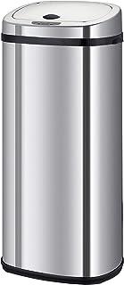 Poubelle de cuisine automatique 42L LARGO en acier INOX avec cerclage