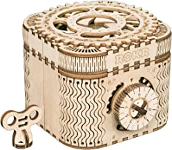 ROKR 3D Assembly Wooden Puzzle DIY Crafts Kit Fun Creative DIY Toy Treasure Box Brain..