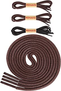 30 inch round brown shoelaces