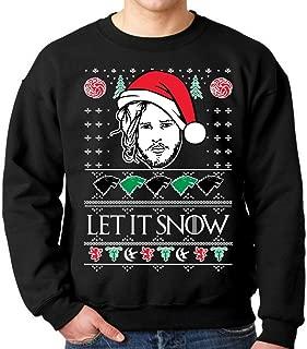 fresh tees Let It Snow Jon Snow Ugly Christmas Sweatshirt