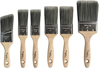 Precision Defined Professional 6 Piece Paintbrush Set, with SRT PET Bristles and Natural Birch Handles, for Home Paint