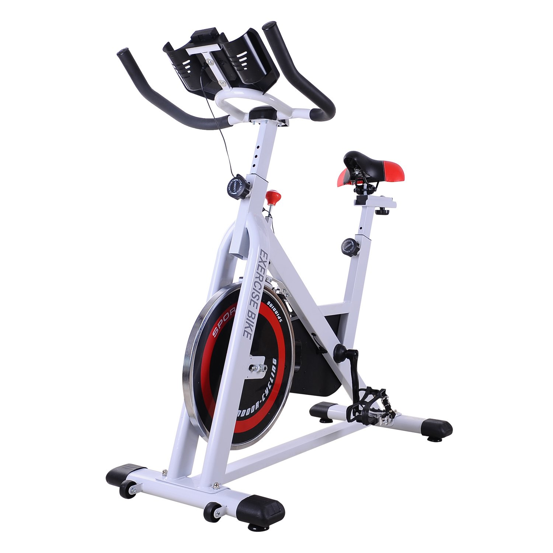 HOMCOM Bicicleta Estática Bicicleta de Fitness Pantalla LCD ...