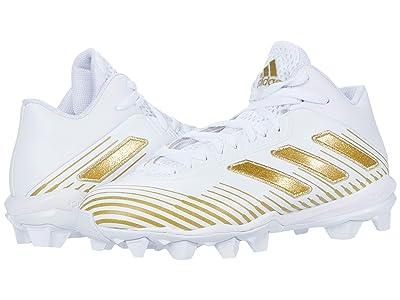 adidas Kids Freak MD J 20 Football (Toddler/Little Kid/Big Kid) (Footwear White/Gold Metallic/Footwear White) Kids Shoes