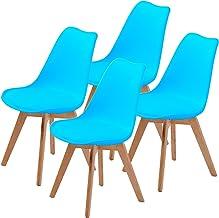 La Bella Replica Eames PU Padded Dining Chair - Blue X4
