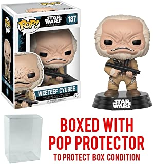 Funko Pop! Star Wars: Rogue One - Weeteef Cyubee #187 Vinyl Figure (Bundled with Pop BOX PROTECTOR CASE)