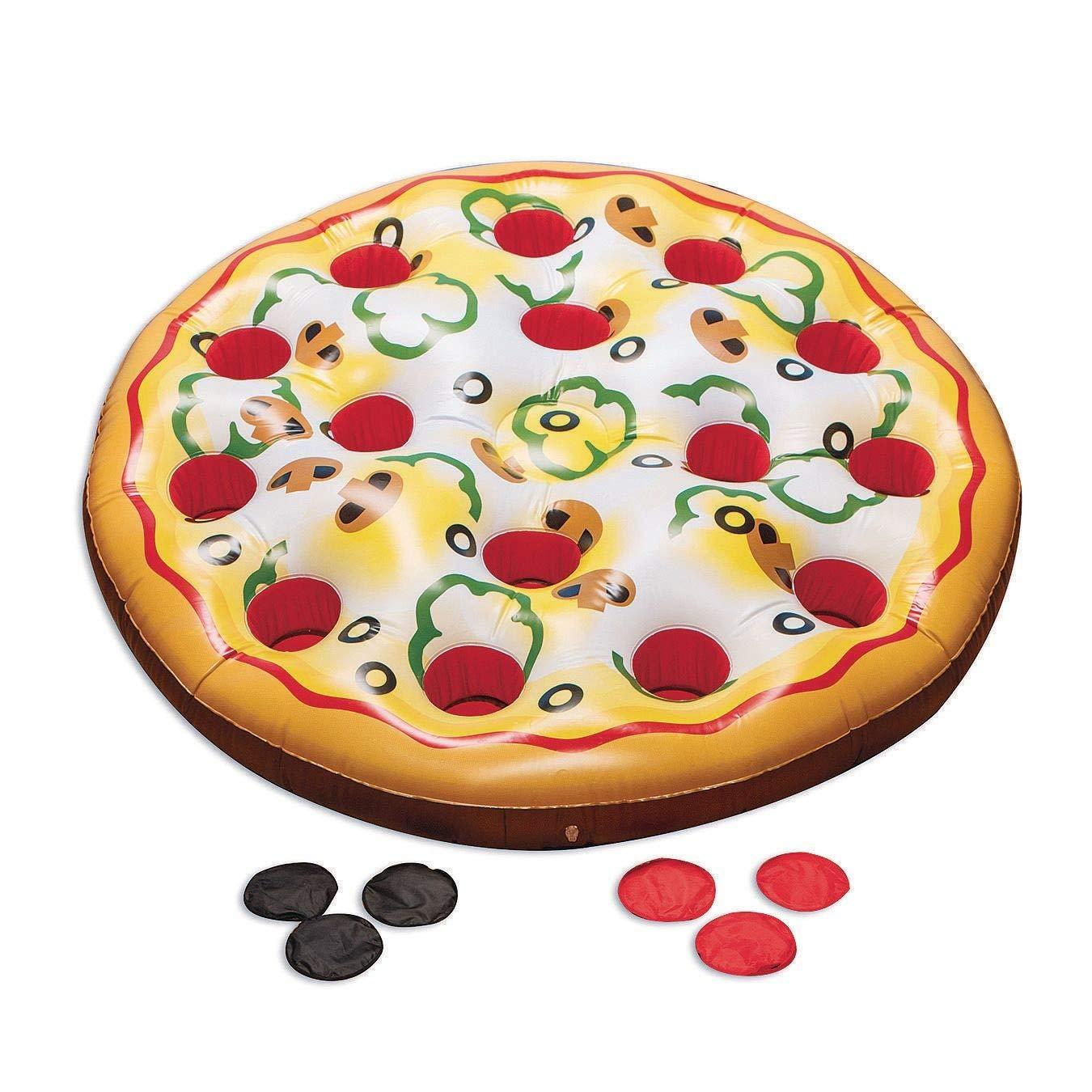 SS Worldwide Jumbo Inflatable Pizza 4' Super special price Phoenix Mall Game Diameter Toss