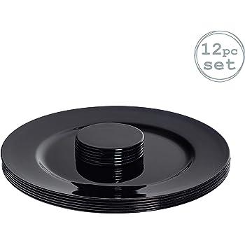 Forma Circular Pack de 18 Posavasos y servilleteros Verde 6 de Cada Argon Tableware Juego de bajoplatos