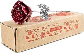 Rosa Eterna fatta di Ferro Battuto - Forgiata a Mano
