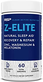 RSP NUTRITION Z-Elite - Natural Sleep and Recovery Supplement with Melatonin, Magnesium, Zinc for Sleep Aid and Muscle Rec...
