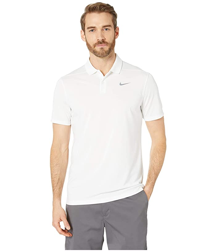 Nike Golf Dry Victory Slim Solid Polo (White/Cool Grey) Men
