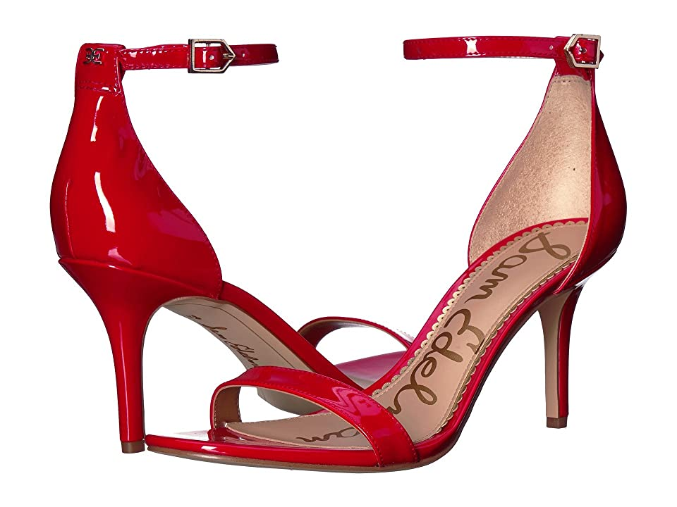 Sam Edelman Patti Strappy Sandal Heel (Candy Red Patent) High Heels