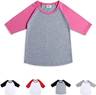 Toddler Baby Girls Boys 3/4 Sleeve Shirts Raglan Shirt Baseball Tee Cotton T-Shirt