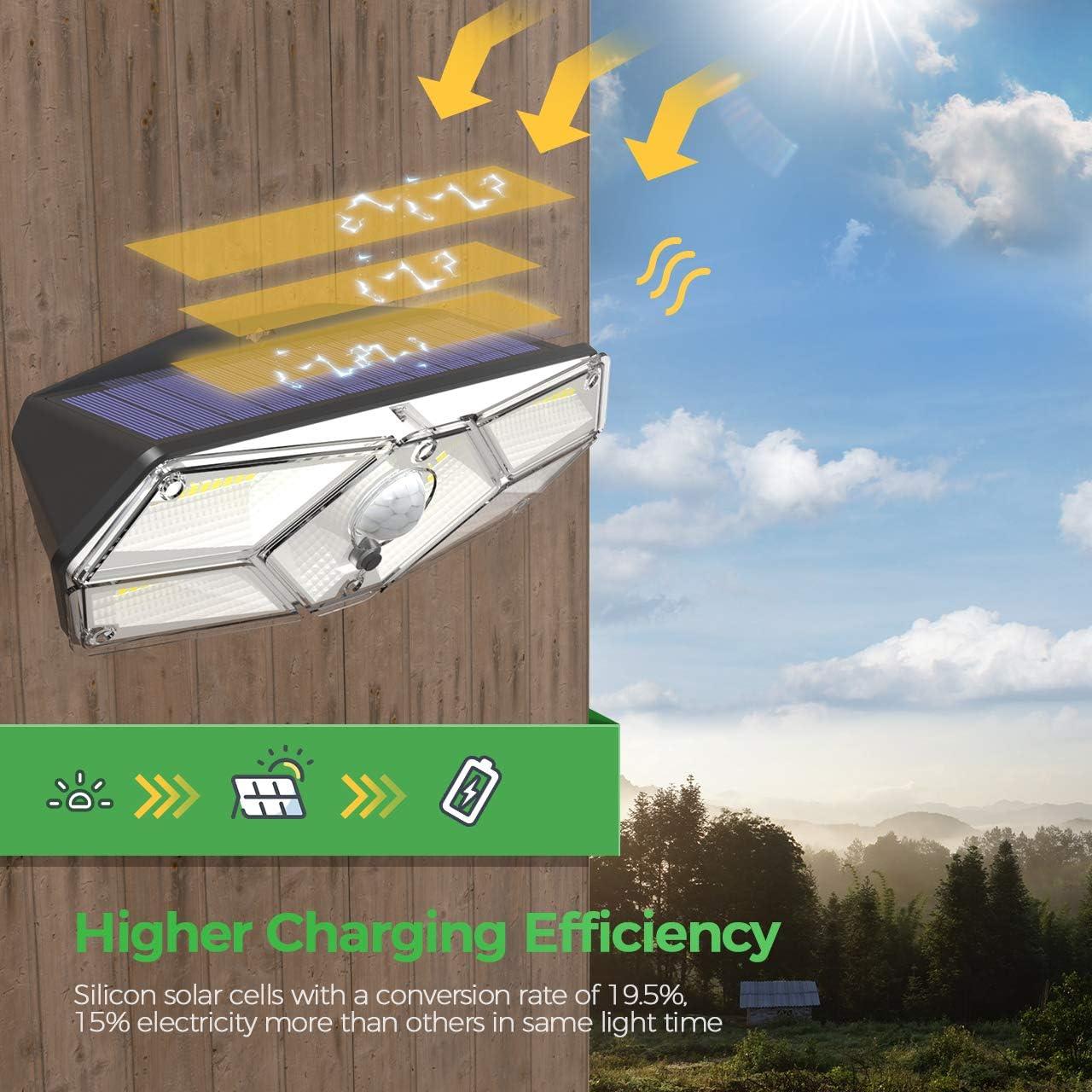 2 Pack TRODEEM 40 LED Solar Motion Sensor Lights Outdoor IP67 Waterproof Solar Powered Security Lights Wireless Solar Wall Lights for Garden Patio Yard Deck Garage Fence Pool