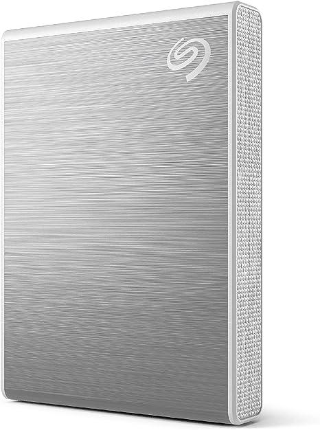TALLA 2 TB. Seagate One Touch SSD, 2TB, plata, velocidad de hasta 1030MB/s, con app de Android, 1 año de Mylio Create, 4 meses del plan Adobe Creative Cloud Photography y servicios Rescue (STKG2000401)