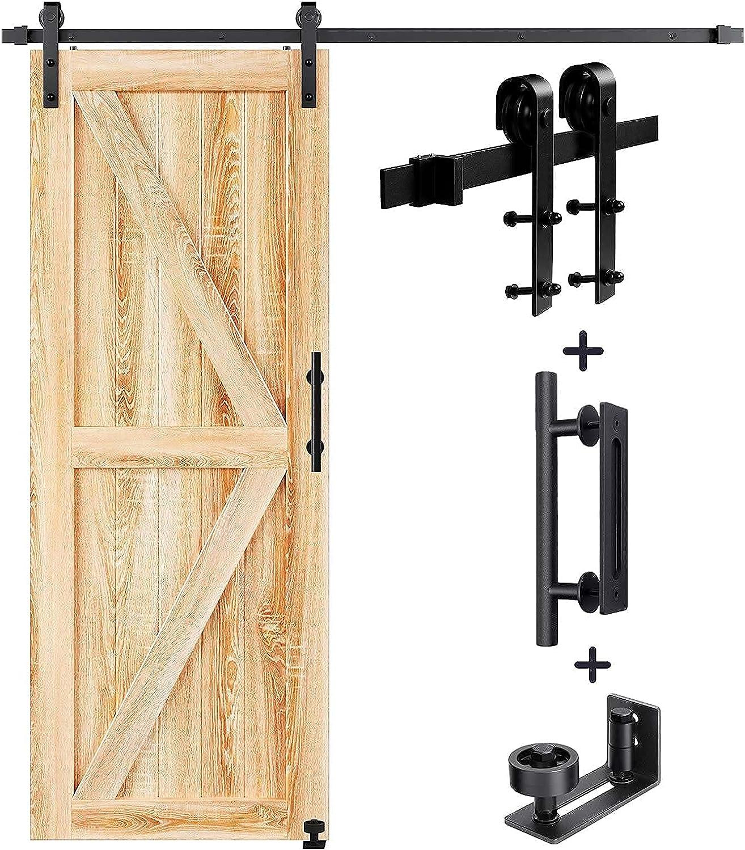 Branded Luxury goods goods EaseLife 5 FT Sliding Barn Door Hardware Floor Handle and Gu