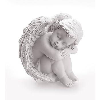 Amazon.de: Geschenkestadl 4 süsse Engel schlafen auf Feder
