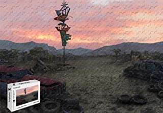PigBangbang,29.5 X 19.6 Inch,Basswood Large Size - Fallout New Vegas Concept Art Junkyard - 1000 Piece Jigsaw Puzzle