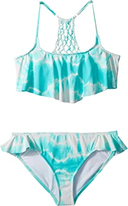 Billabong Kids Peace 4 U Flutter Swim Set (Little Kids/Big Kids)