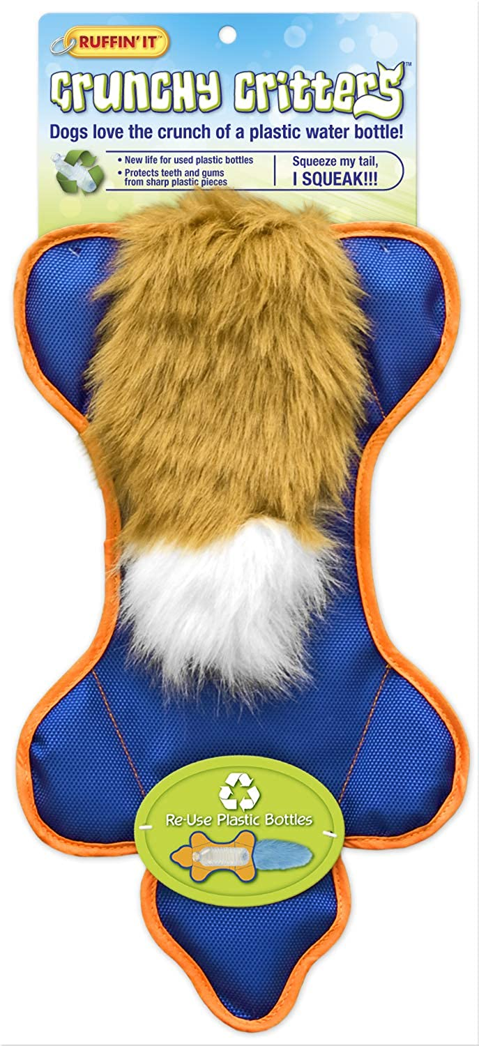 Ruffin' It Crunchy Critters Tough Pet Toy