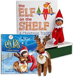 The Elf on the Shelf: A Christmas Tradition Brown Eyed North Pole Elf Boy with The Elf on a Shelf: Elf Pets A Reindeer Elf Pets Storybook