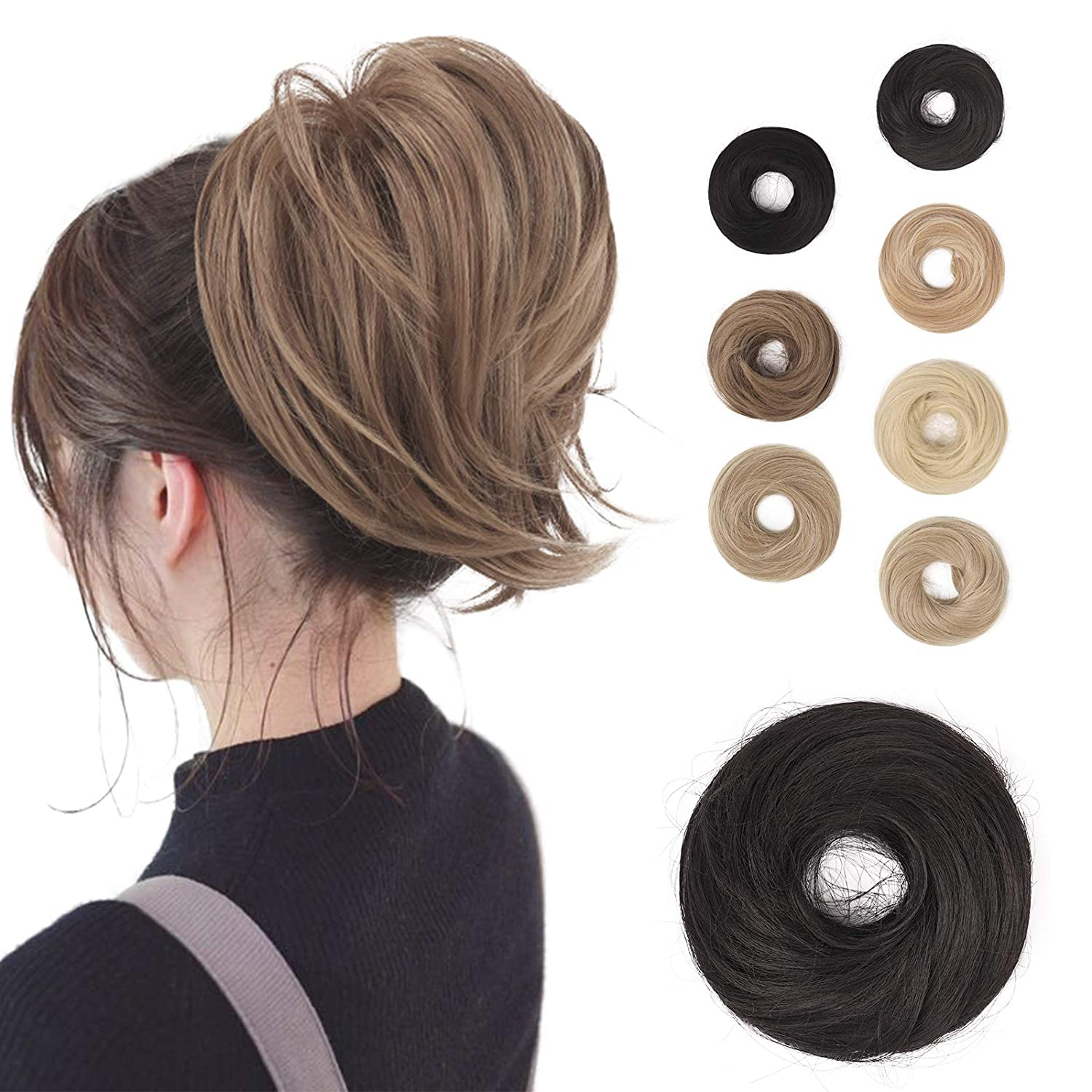 BARSDAR Hair Bun Ponytail Hairpiec Extension Straight Online limited product Ranking TOP14 Synthetic